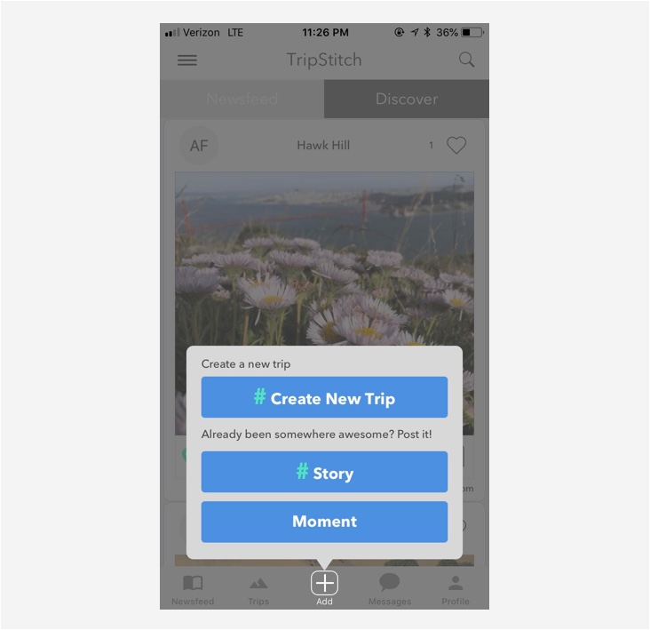 Add a Previous Trip   Have you already been somewhere amazing? Do your friends ask you for trip recommendations? Please add it to TripStitch! We would love to see all of the cool things you've done around the globe.