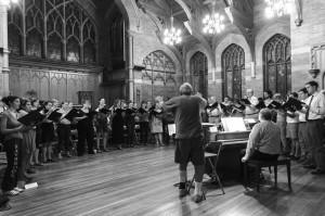 Chorale's 1st rehearsal 2015 (Photo by Erielle Bakkum)