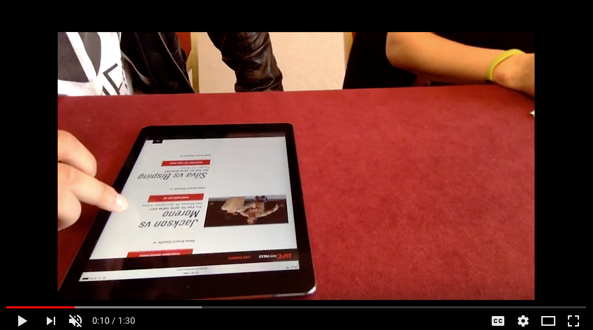 Video of general sentiment feedback during in-person usability tests.