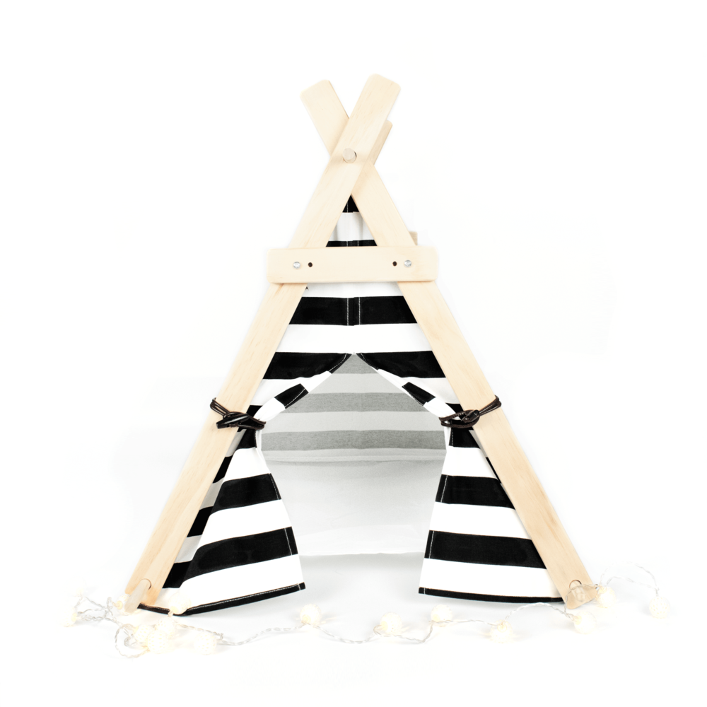 Black And White Pet Tent by Katt & Hound