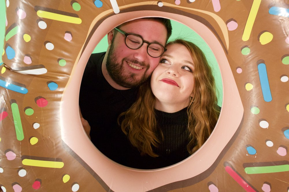 FUN FACTS - - Cara is 49 years old, and Alex only 13.- Winners of the 2017 Brighton Fringe Audience Choice Award-This is not a real donut. (Zoom in and see 4 urself!)