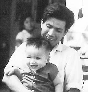 Minh with his father.