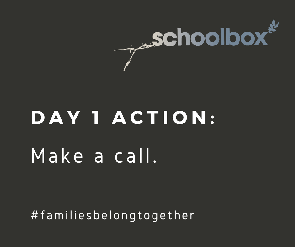 "The 7-Day Challenge starts NOW. Your action item: Call HHS Secretary Alex Azar 202-690-7000 and DHS Secretary Kirstjen Nielsen 202-282-8000. ""My name is (name) and I am calling to urge you to stop taking children from their parents at the border."""
