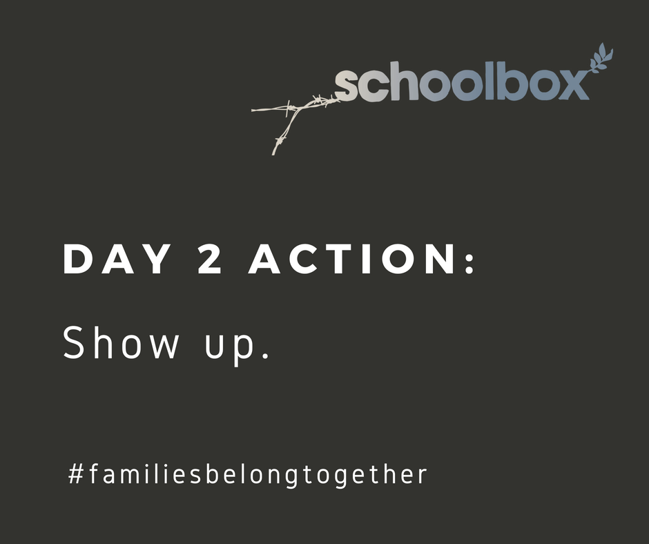 Day 2 to STOP family separation at the border NOW! Your Action: Show up to a National Day of Action event today. Local to Sonoma County? Join us here:  http://bit.ly/2HKpU4T  Or find an event near you:  https://bit.ly/2JKTx7X