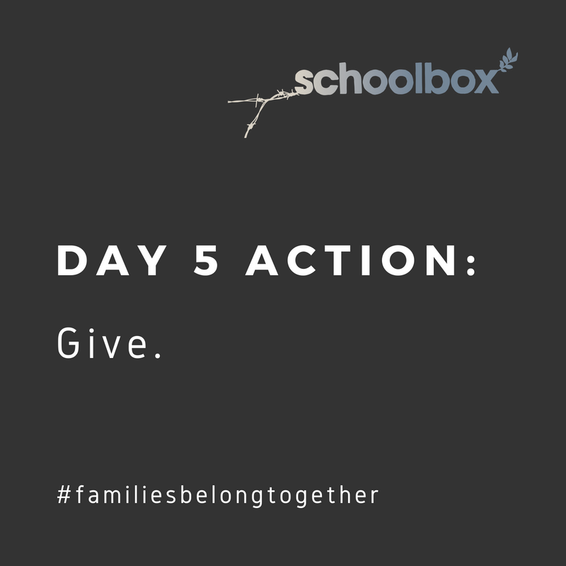 Day 5. Keep parents and their children together. ACTION: Make a donation to support a nonprofit fighting to  #StopFamilySeparation :  1)  RAICES  ( https://bit.ly/2HCr8yY ) promotes justice by providing free and low-cost legal services to underserved immigrant children, families and refugees in Central and South Texas.  2)  Texas Civil Rights Project  ( https://bit.ly/2MrRirY ) uses legal advocacy to empower communities and create policy change.
