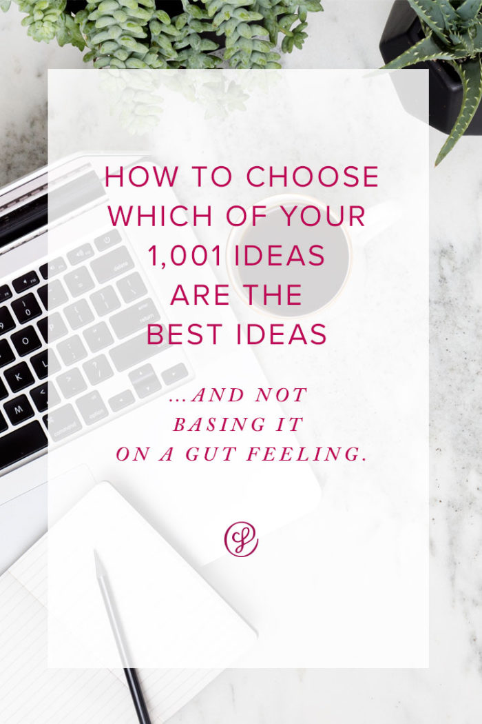 Annual Planning and How to Choose Which Of Your 1001 Ideas are the Best Ones.