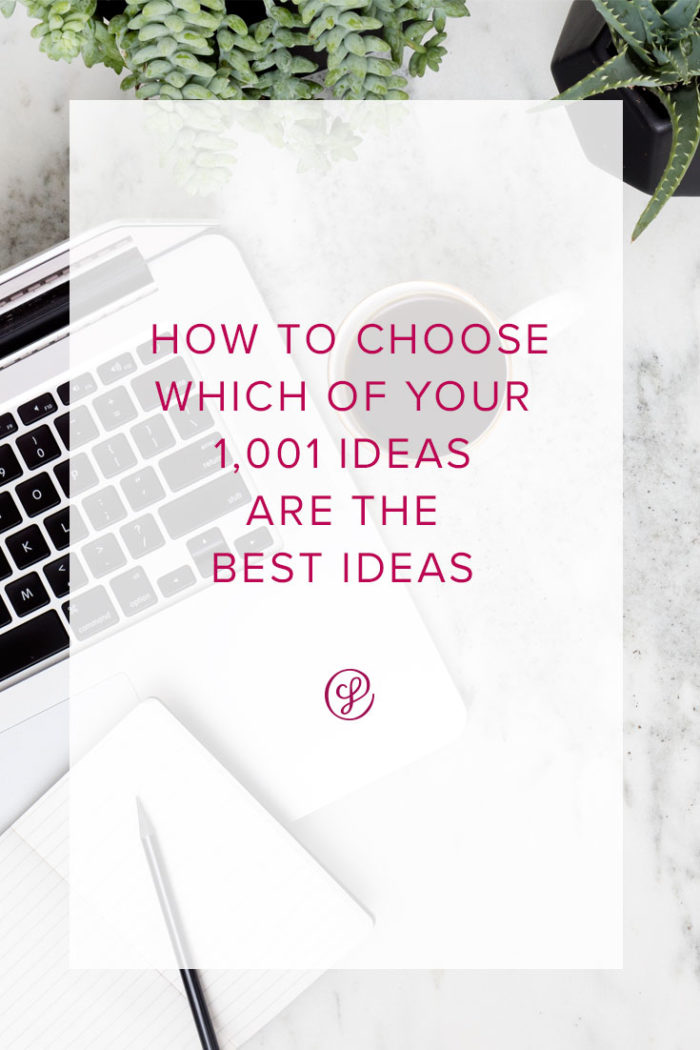 Annual Planning For Creative Business Owners - How to choose which of your 1,001 Ideas Are The Best Ideas.