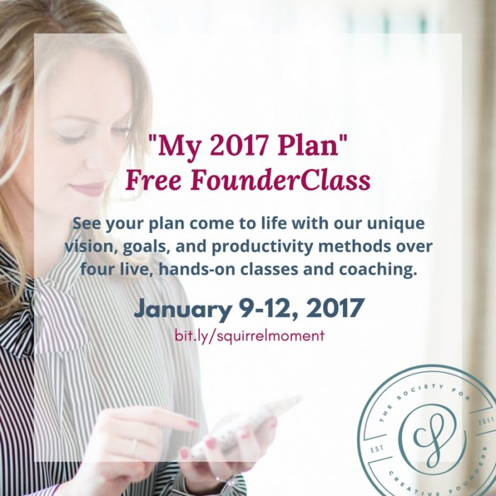 Free Class for Creative Business owners on business planning for 2017