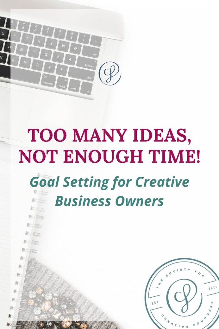 too many ideas, not enough time! Goal setting and yearly planning for creative business owners bit.ly/squirrelmoment