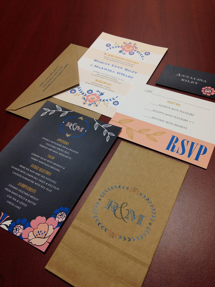Erin Kendrick of E. Street Design Co. Invitation Suite