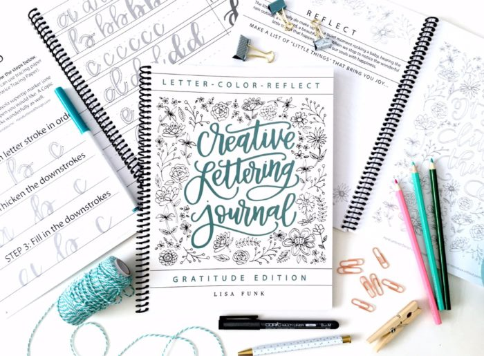 Creative Lettering Journal by Hand Lettered Design