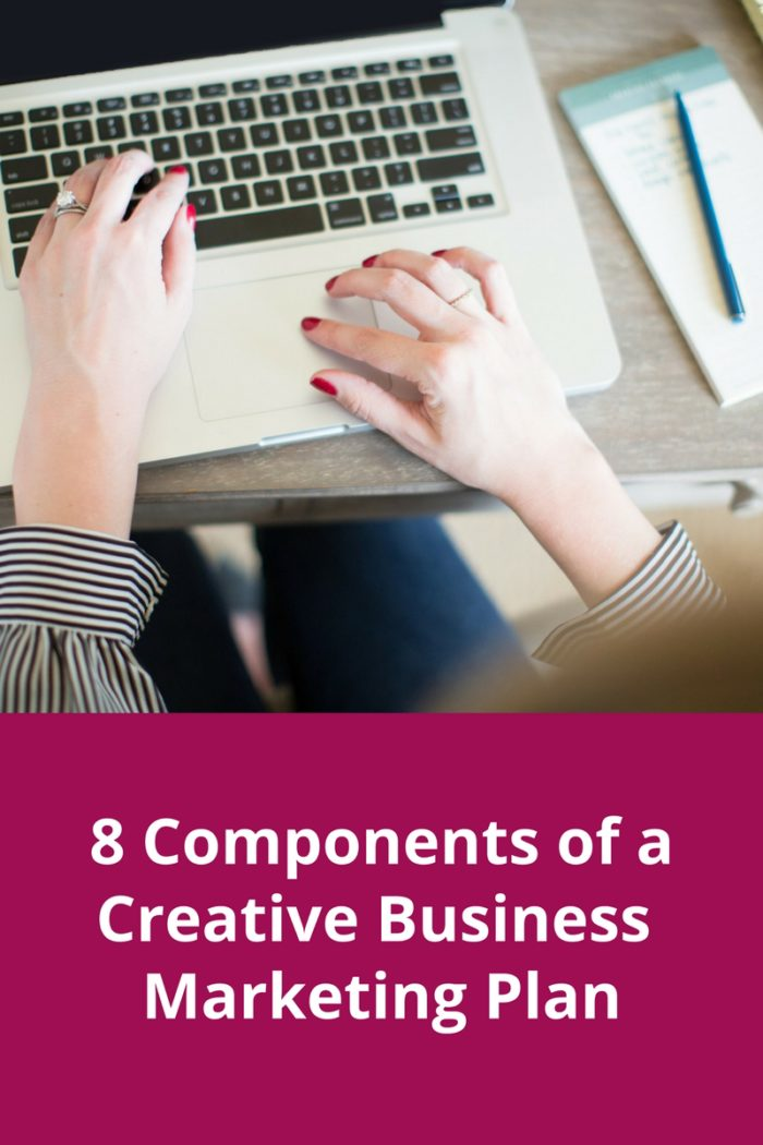 8 Components of a marketing plan for creative business owners. How to create a marketing plan.