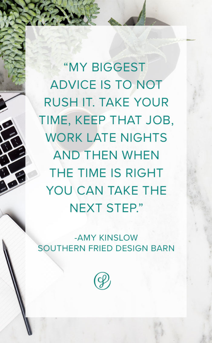 How to start a creative business? Advice and tips from Creative Business Founder Amy Kinslow of Southern Fried Design Barn
