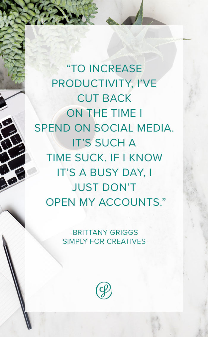 Productivity Tips & habits from Brittany Griggs, Simply for Creatives