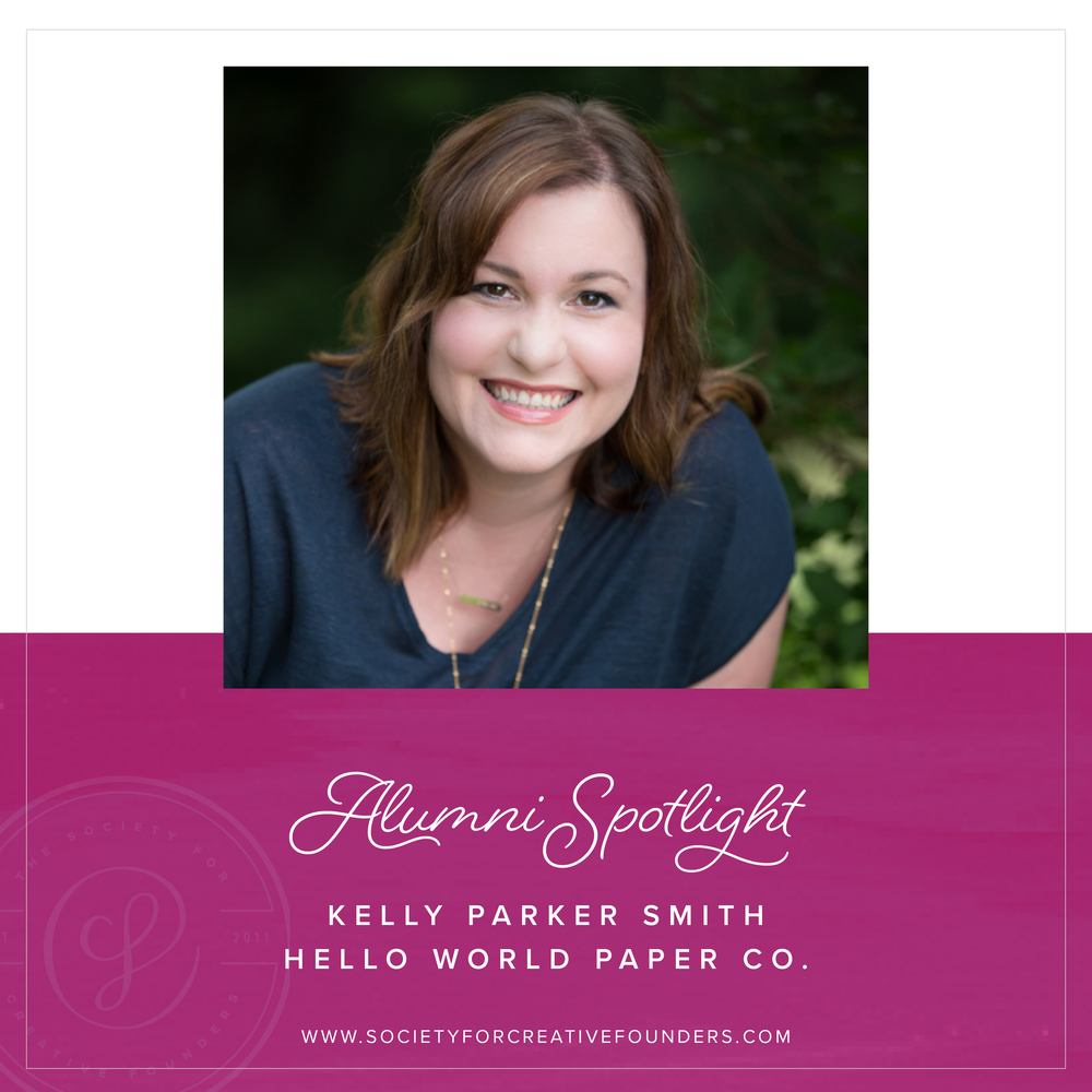 Kelly Parker Smith of Hello World Paper Co.