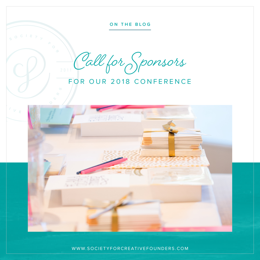 2018 Creative Founders Conference - call for sponsors
