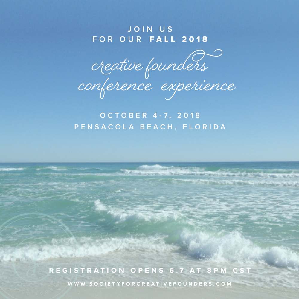 Fall 2018 Conference Society for Creative Founders