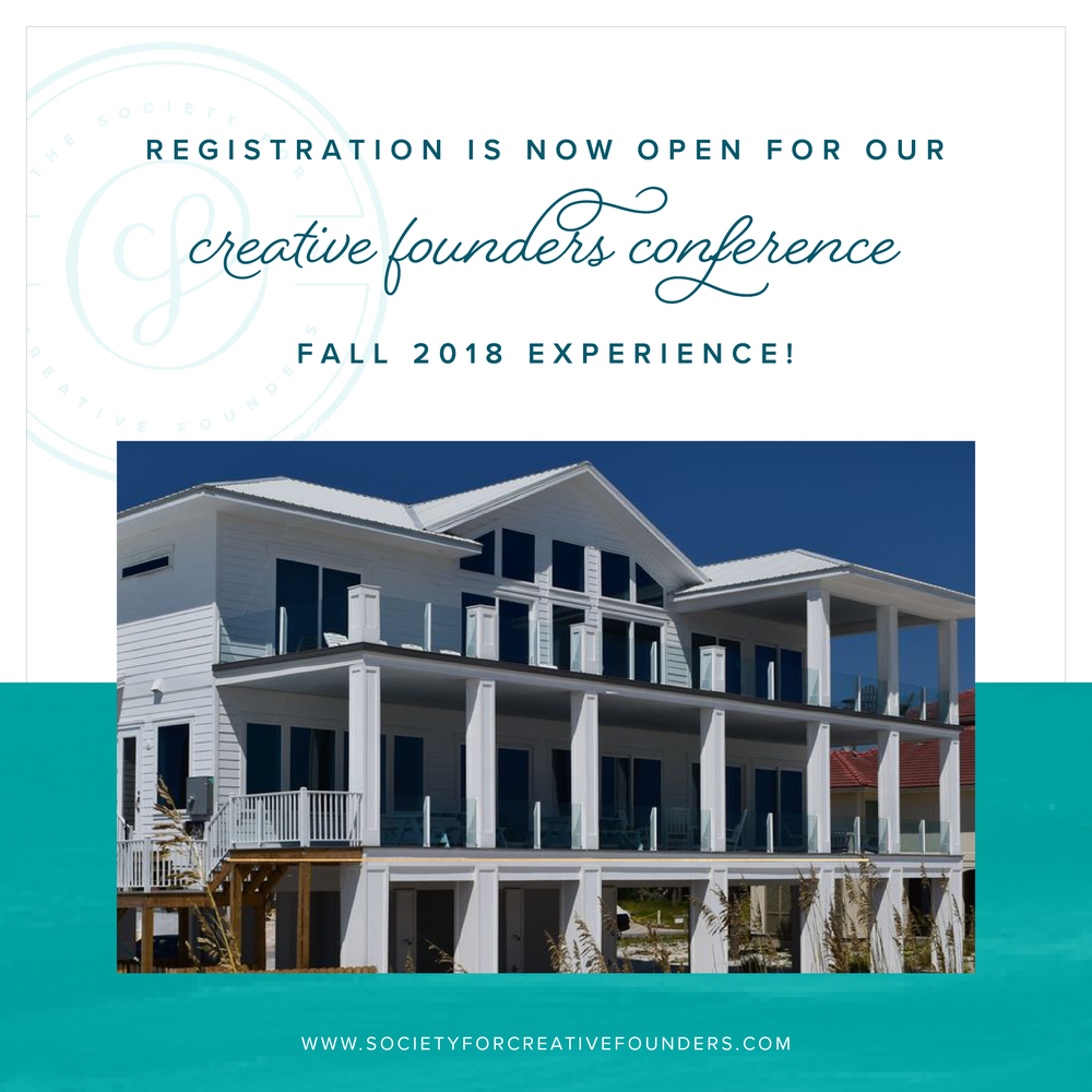 Registration is Now Open for our Fall 2018 Creative Founders Conference!