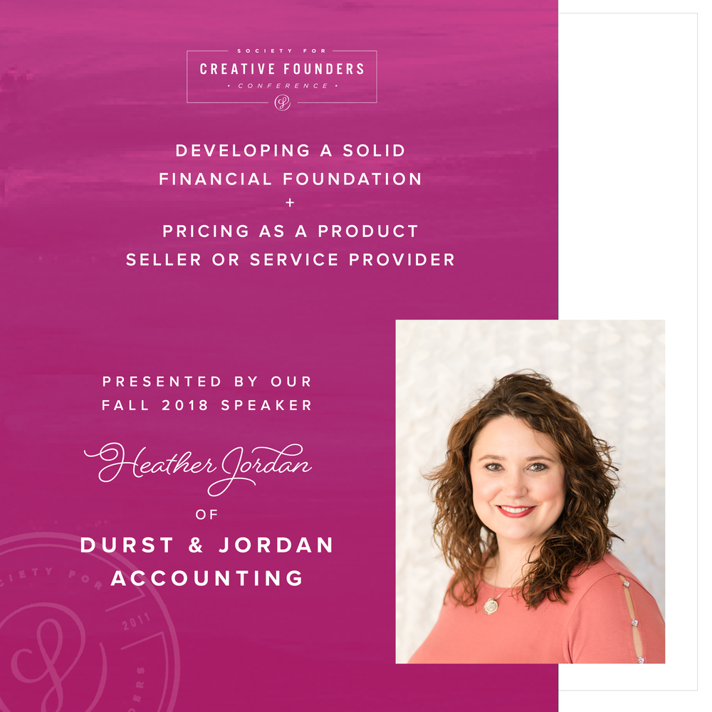 2018 Creative Founders Conference Speaker Heather Jordan of Durst and Jordan Accounting