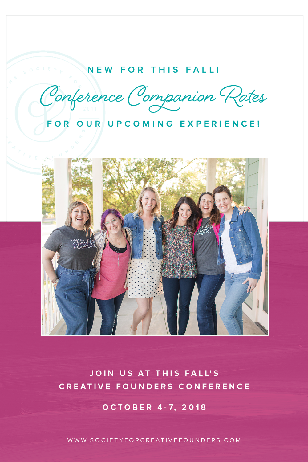 2018 Fall Creative Founders Conference - Conference Companion Rates Available!