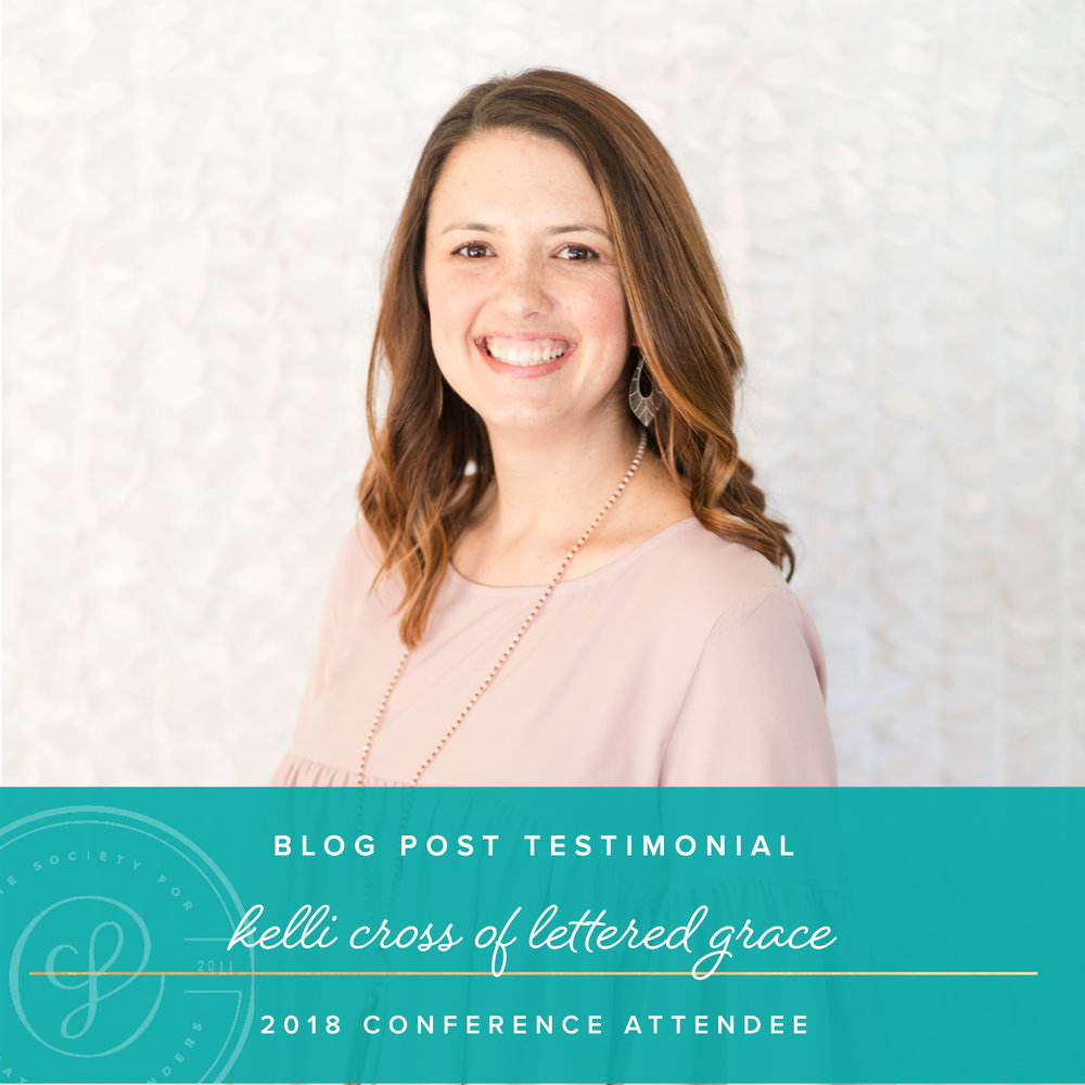 2018 Creative Founders Conference Testimonial by Lettered Grace