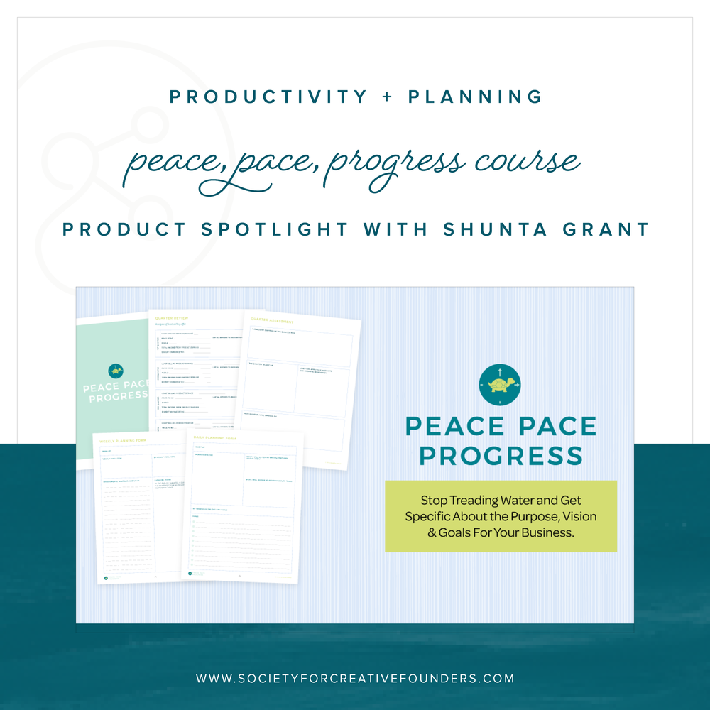 Peace, Pace, Progress with Shunta Grant is now open to join!