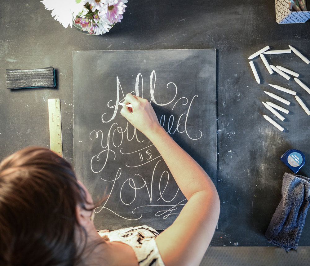 Chalk Art with Valerie McKeehan of Lily and Val