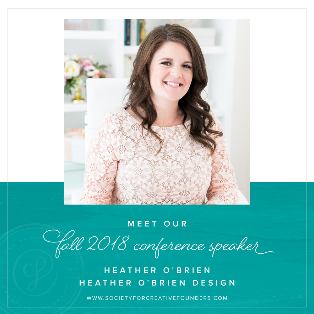 Meet our Fall Creative Founders Conference Speaker Heather O'Brien