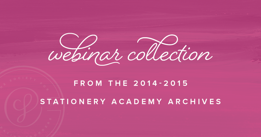 Webinar Collection from the Stationery Academy Archives
