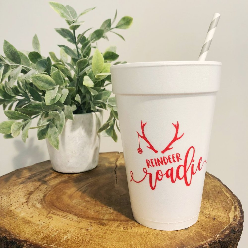 Reindeer Roadie Party Cups - Brown Paper Crafts