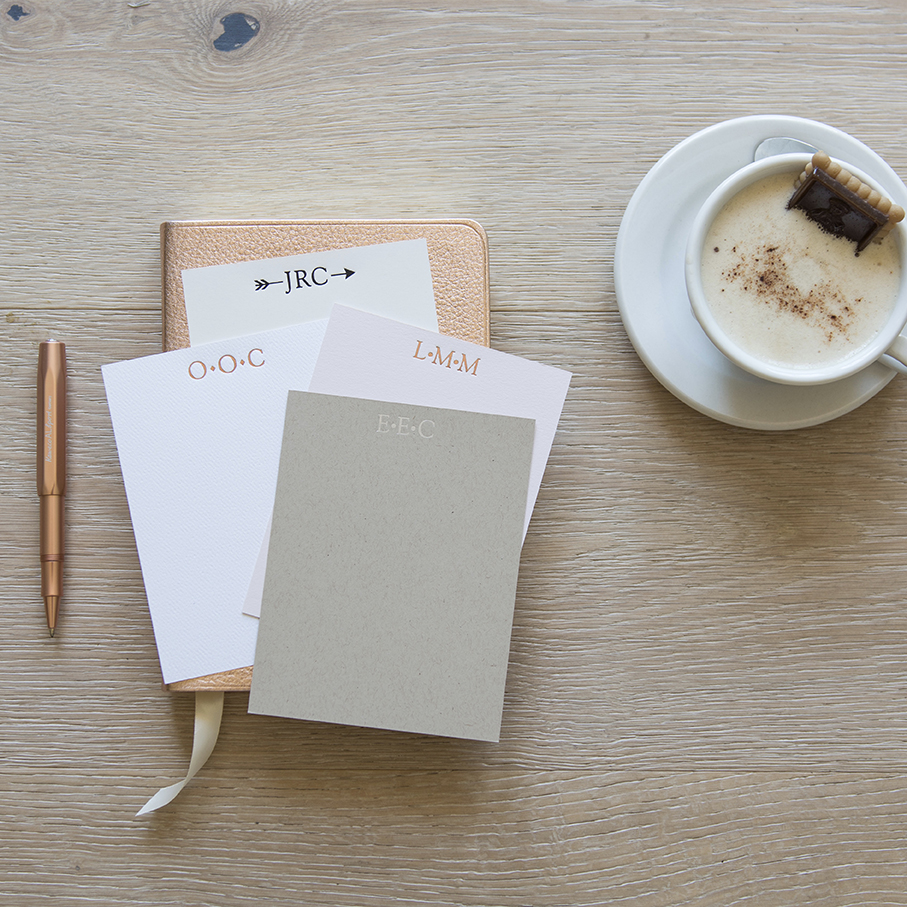 Monogrammed Personalized Stationery - Carde Blanche