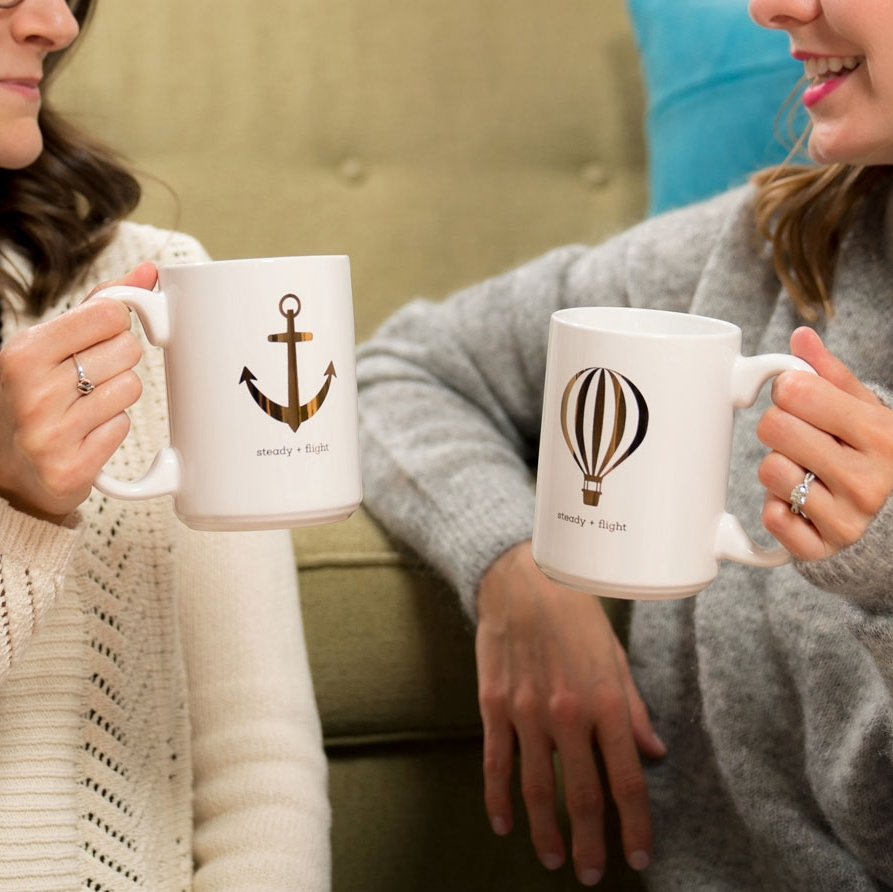 Steady Flight Friendship Mugs - Earl Grey and Polka Dots