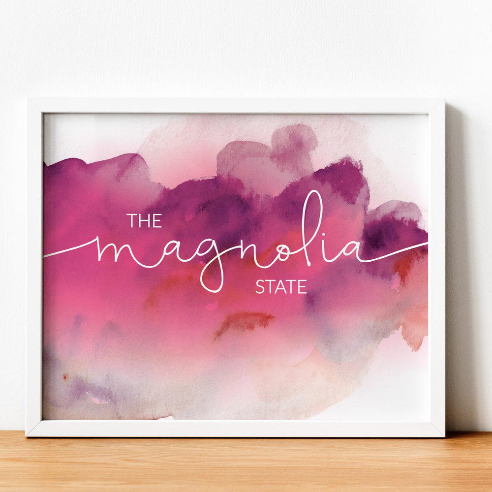 State Motto Prints - Paperfinch Design