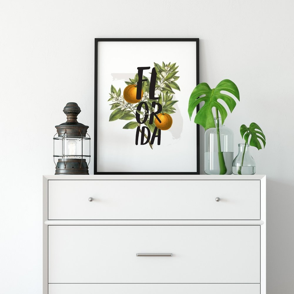 State Floral Prints - Paperfinch Design