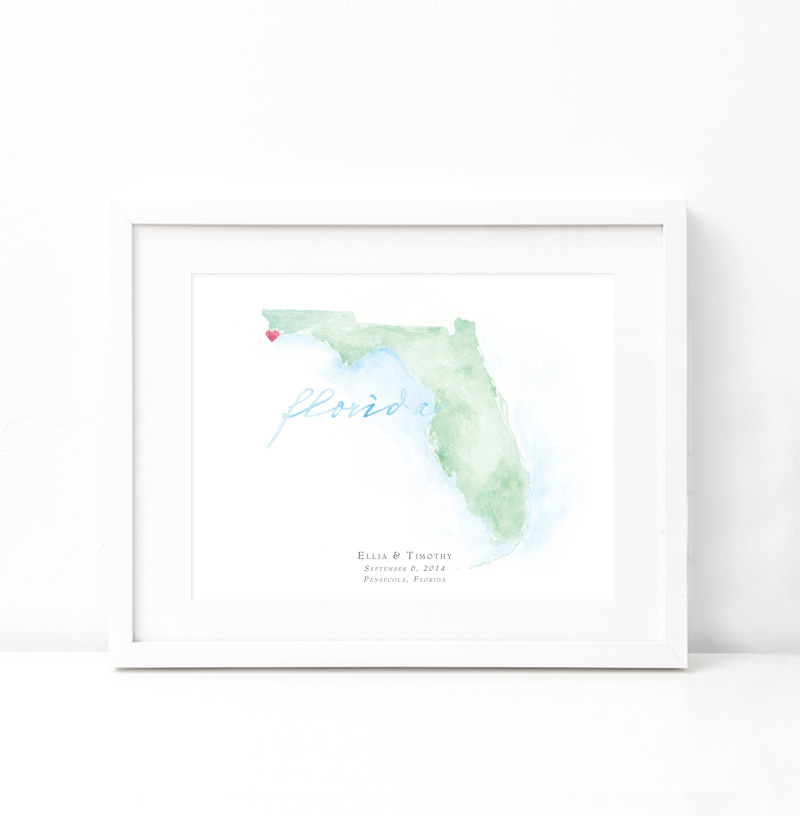 Watercolor Map Painting - Beloved Paper