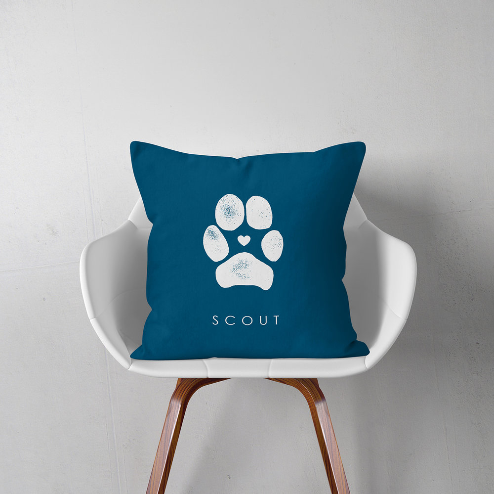 Personalized Pet Paw Pillow - FlutterBye Prints