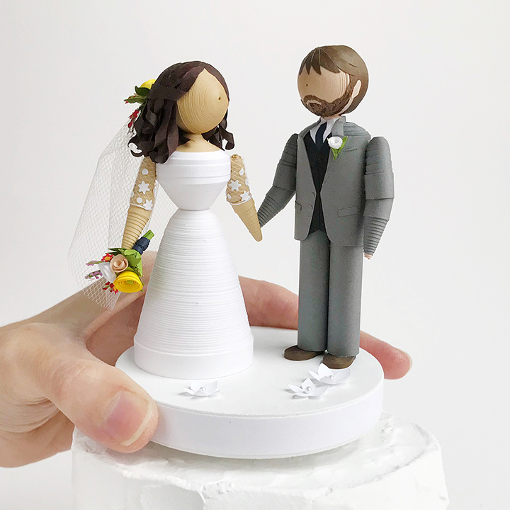 Personalized Wedding Figurines - Runner Bean Arts