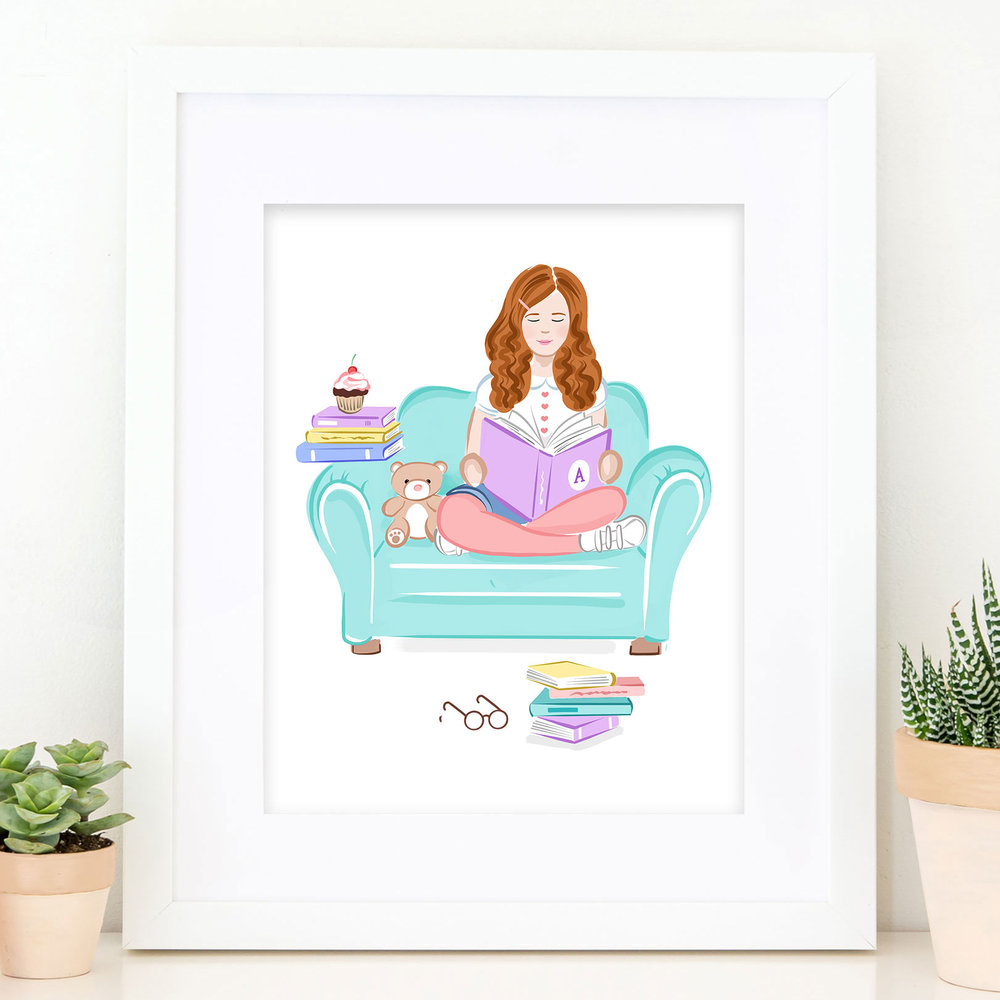 The Bookworm Girls Print - Laura Knopp