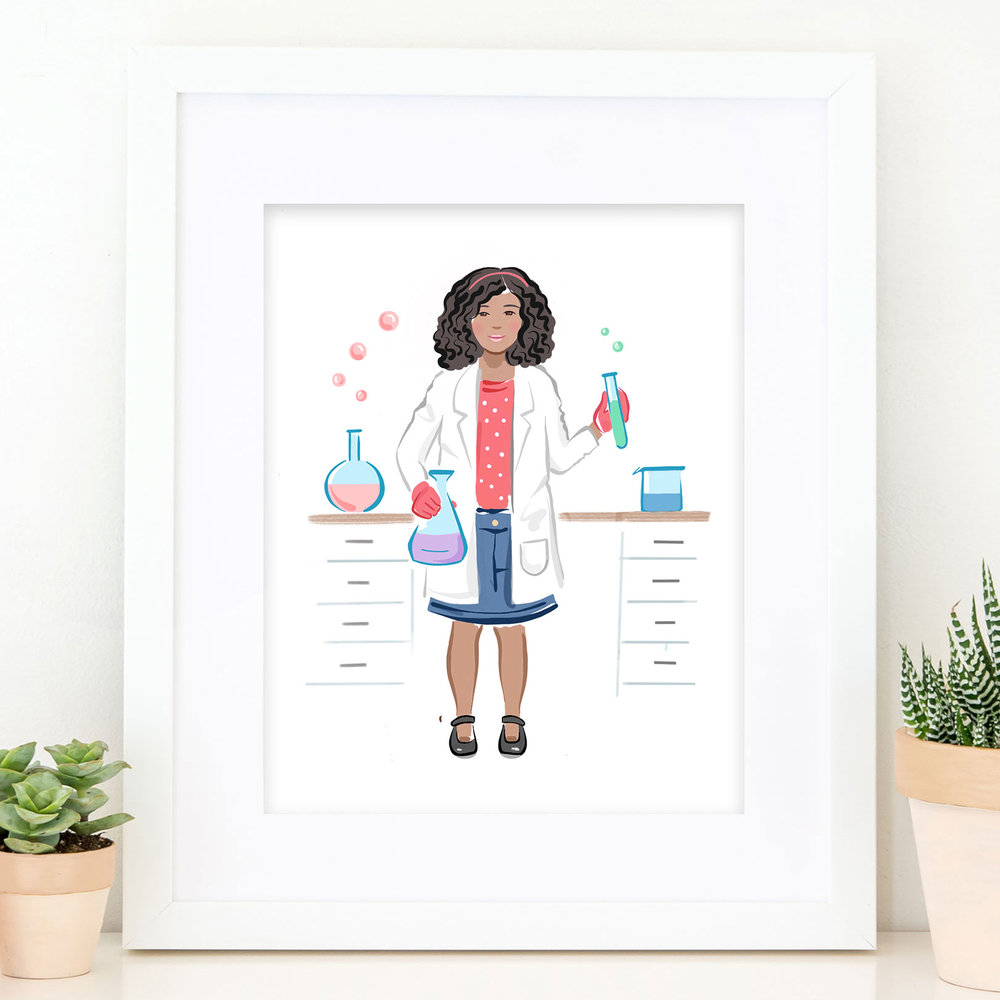 The Scientist Girls Print - Laura Knopp