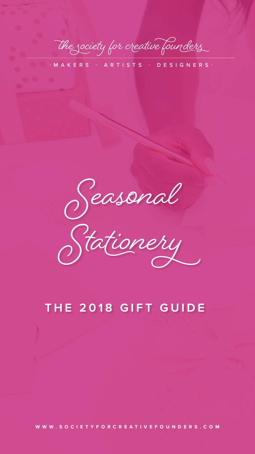 Seasonal Stationery - Creative Founders 2018 Gift Guide
