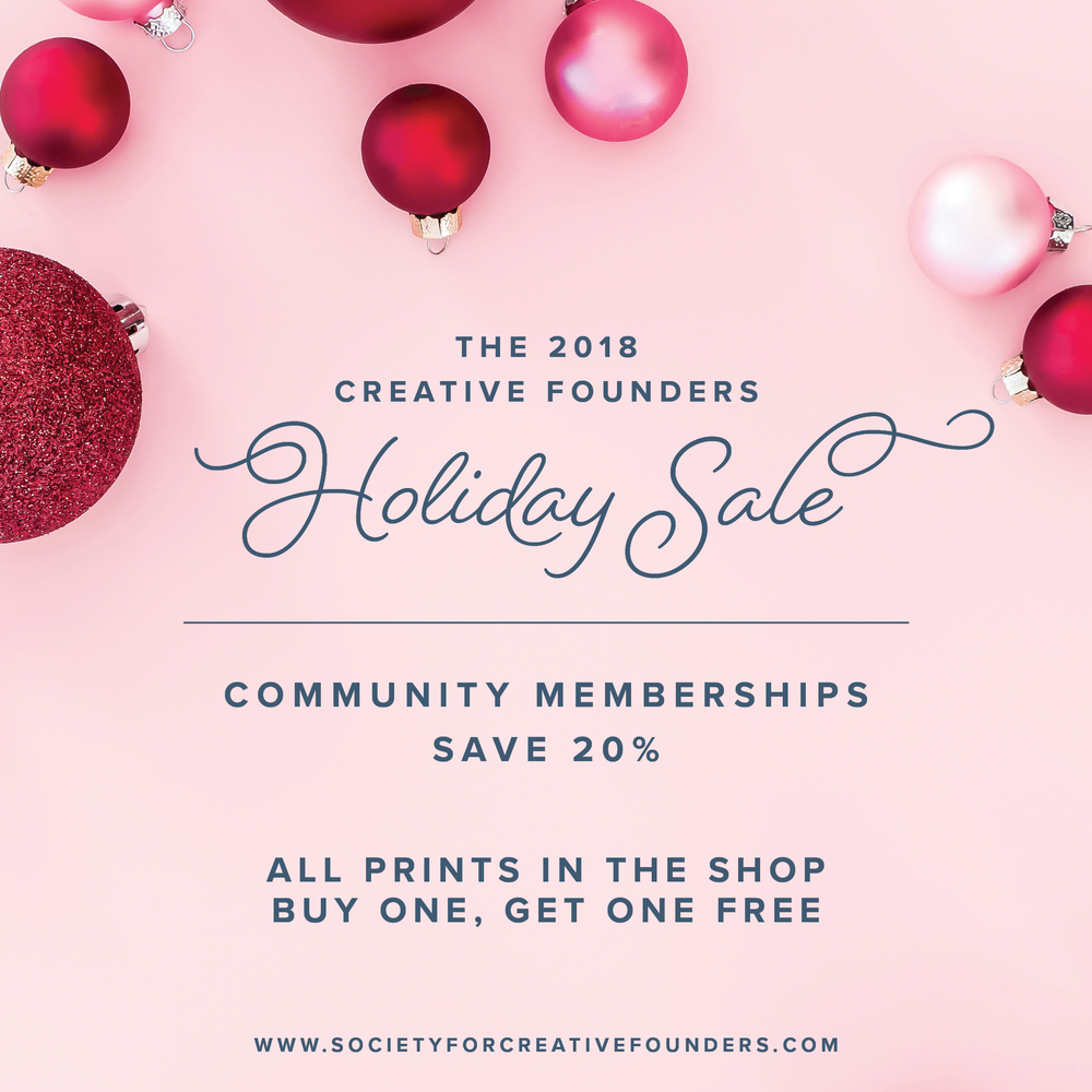 Society for Creative Founders - Holiday Sale