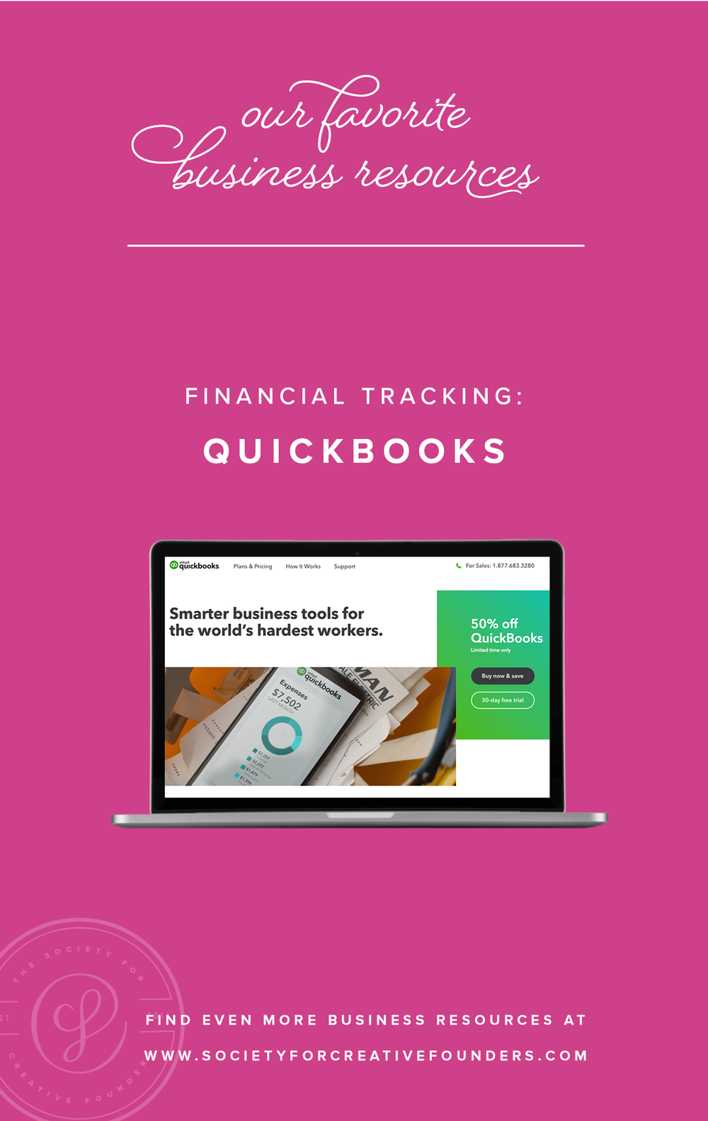Financial Tracking with Quickbooks - The Contract Shop - Favorite Business Resources from Society for Creative Founders