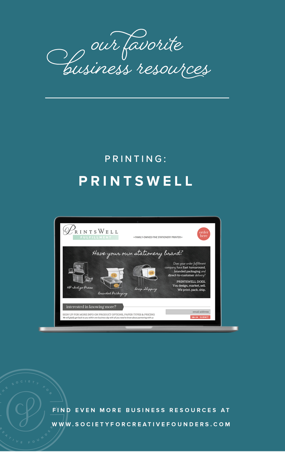Printswell Fulfillment - Favorite Business Resources from Society for Creative Founders