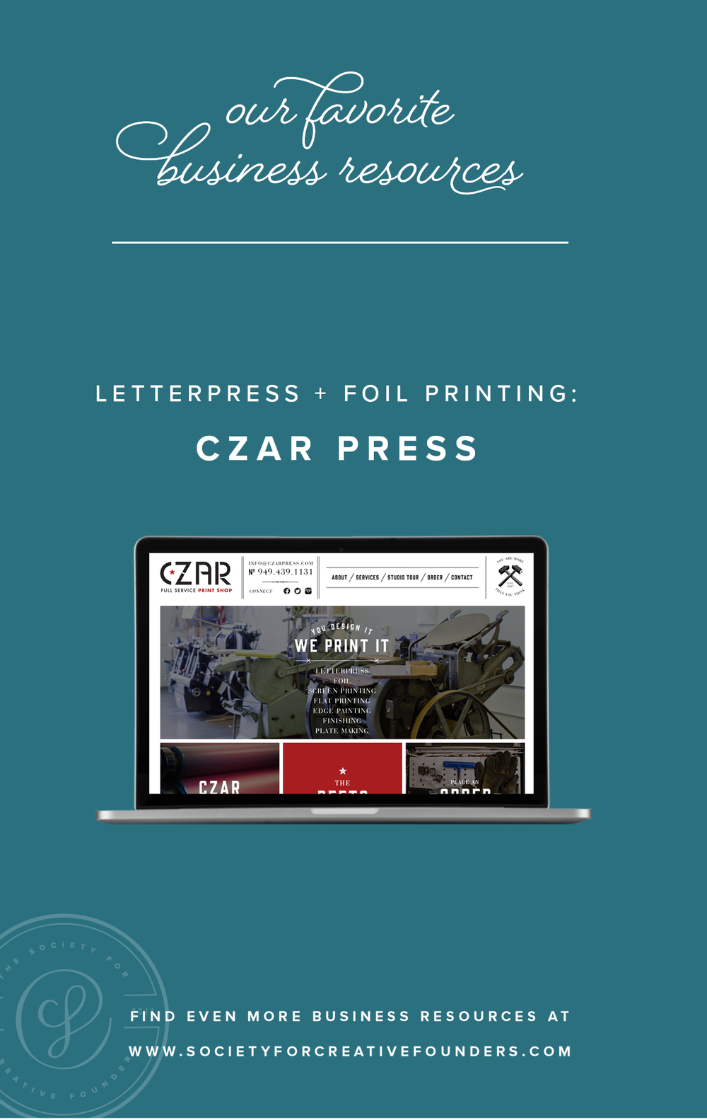 Czar Press - Favorite Business Resources from Society for Creative Founders