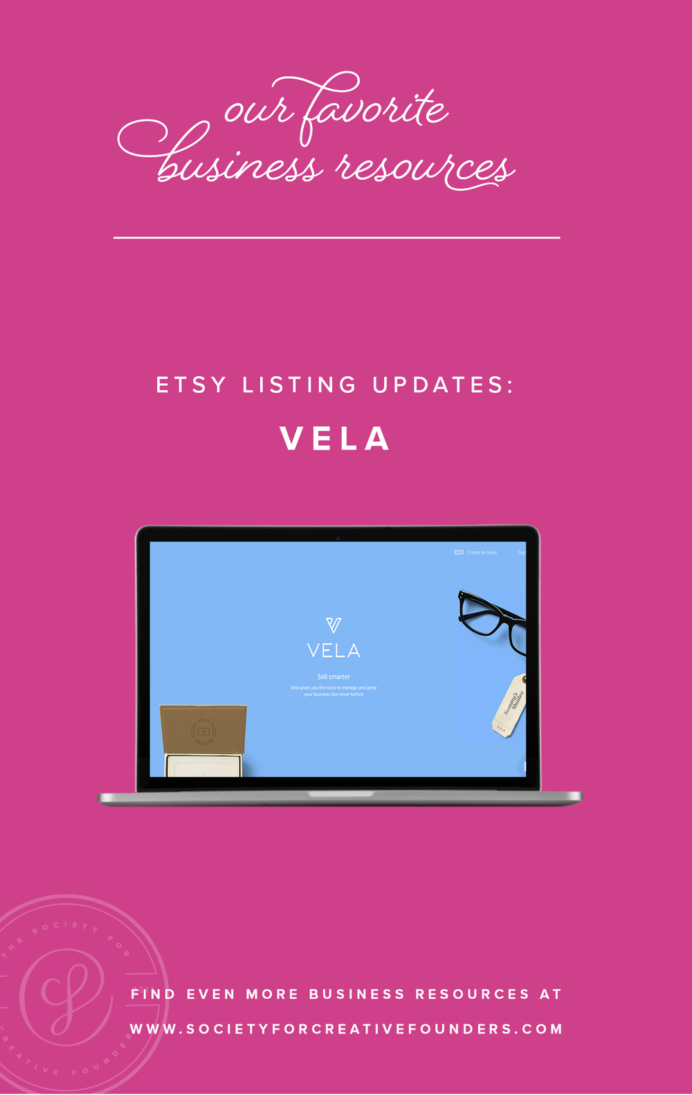 Etsy Listing Updates - Vela - Favorite Business Resources from the Society for Creative Founders