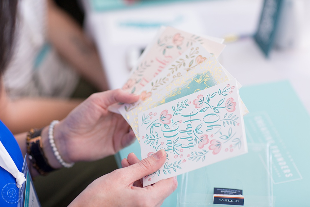 These cards from  tog.ink  showed the different printing styles they offer. Offering flat, foil, thermography, and letterpress, every single one was printed beautifully!