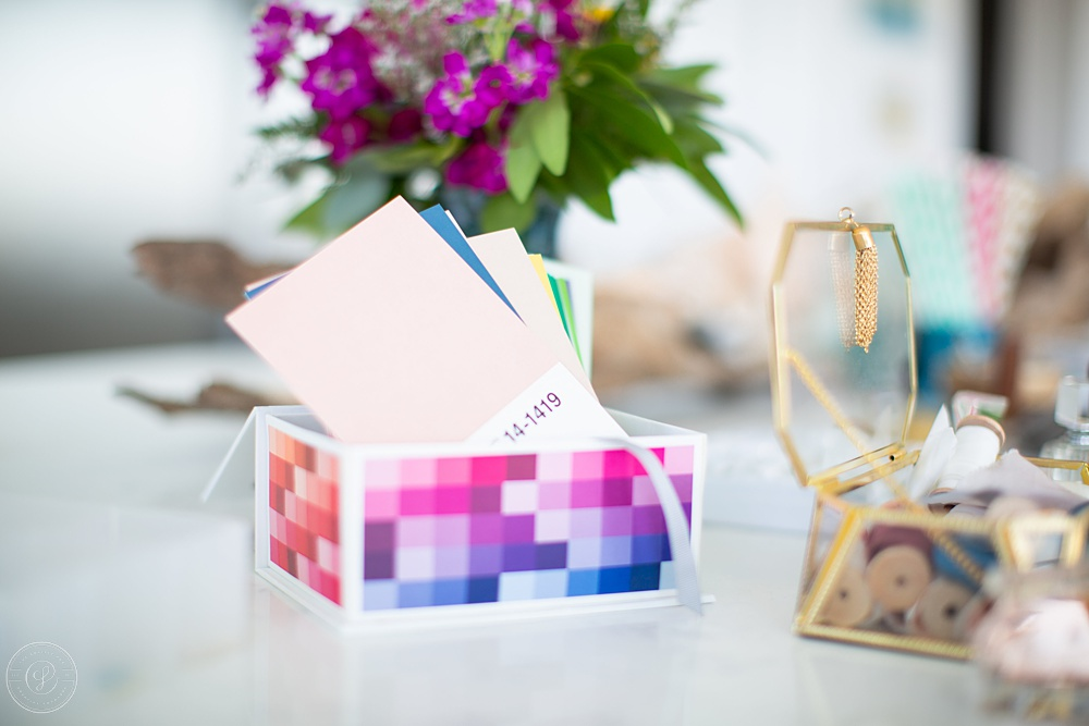 These Pantone cards  are actually  postcards!  They are such a fun prop to work with.