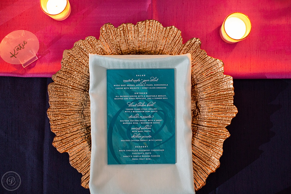 The celebration dinner is one of  Kristin's  favorite evenings to design every year.. These acrylic menus were designed and painted by hand for each of the attendees, and she'll share more about the story behind these menus on Instagram today, so stay tuned!