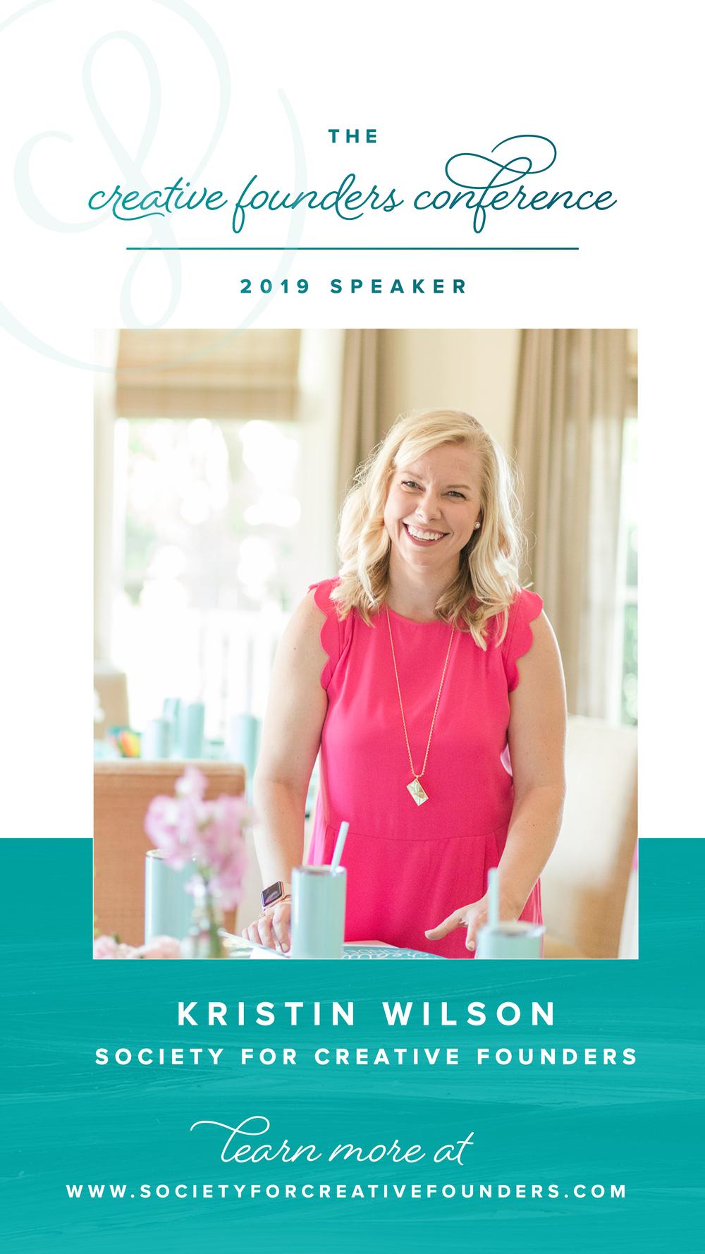 Kristin Wilson - Society for Creative Founders 2019 Speaker