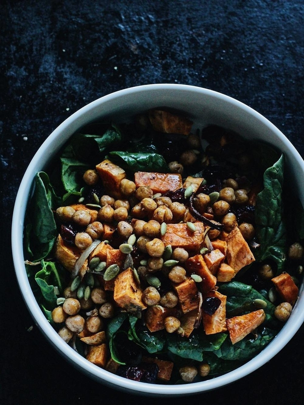 Chickpea + Sweet Potato Salad -
